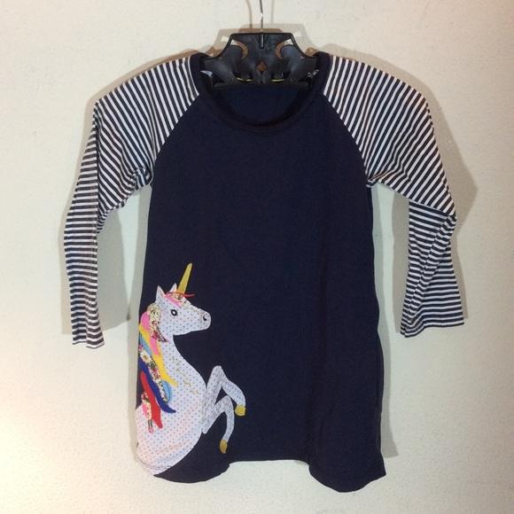 Mini Boden Other - Rainbow unicorn girl's tunic